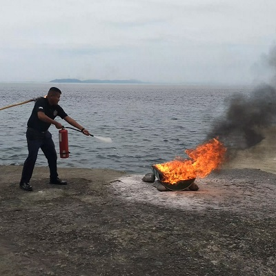 Beach in Batangas : Eagle Point Batangas Resorts Employees Performs Fire Drill